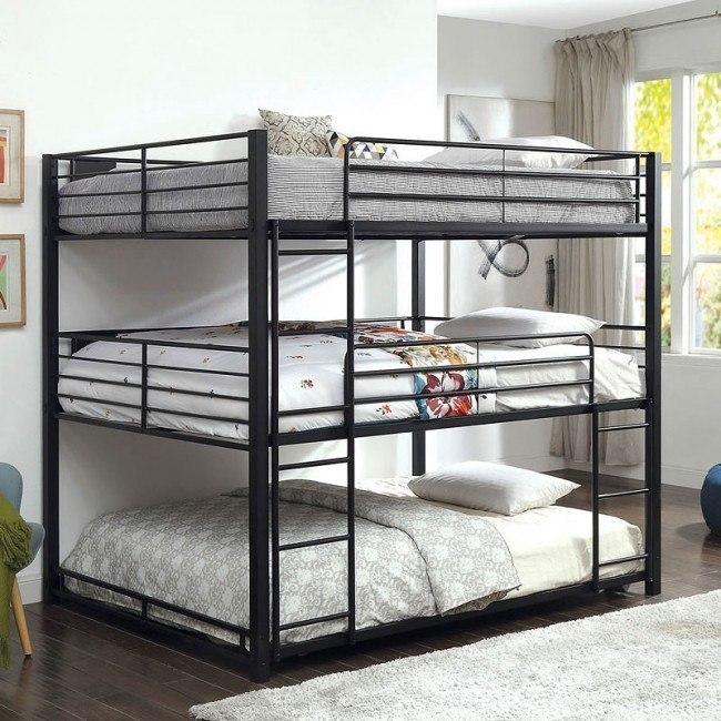 Carolyn Triple Queen Bunk Bed Furniture Of America Furniture Cart