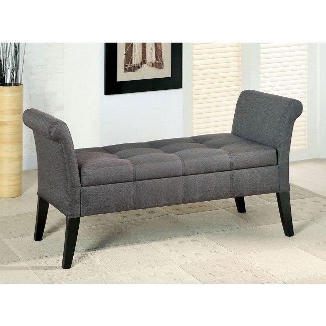 Doheny Storage Bench Gray Furniture Of America