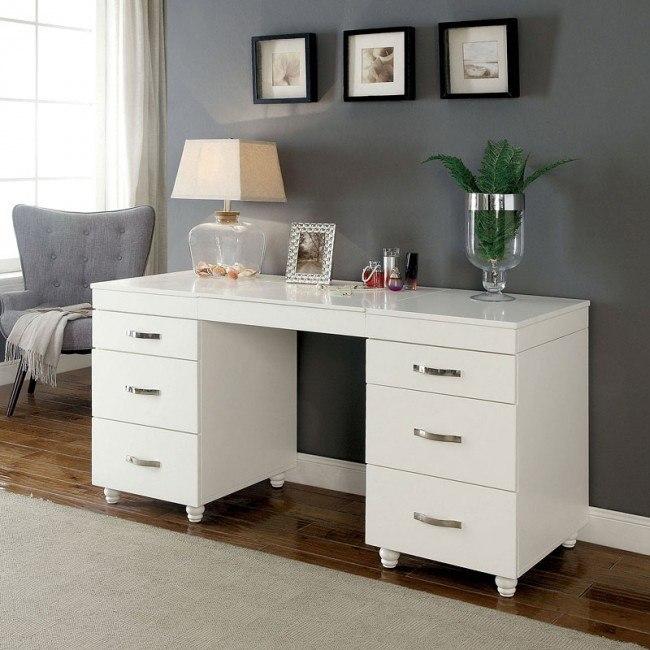 Verviers Vanity Desk W Lift Top Mirror Furniture Of America