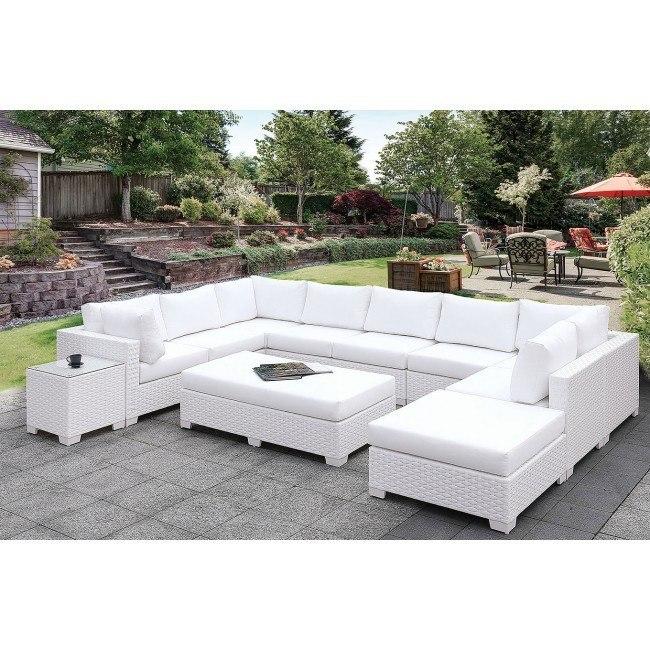 Marvelous Somani White Outdoor U Sectional Set Configuration 1 Unemploymentrelief Wooden Chair Designs For Living Room Unemploymentrelieforg