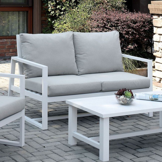India Outdoor Loveseat Beige