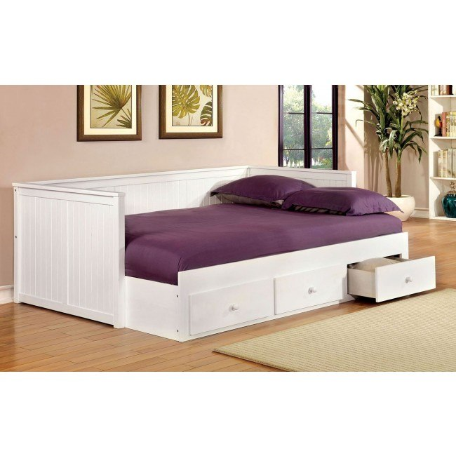Wolford Full Size Daybed W Drawers White Furniture Of
