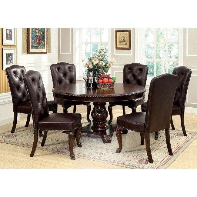 Bellagio Round Dining Room Set Furniture Of America | Furniture Cart