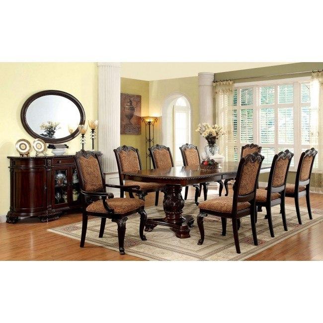 Bellagio Dining Room Set W Fabric Chairs