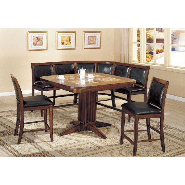 Living Stone Counter Height Corner Dining Nook Set