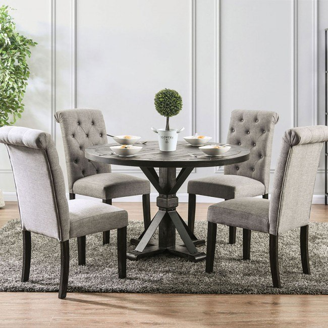 Alfred Round Dining Room Set W Light