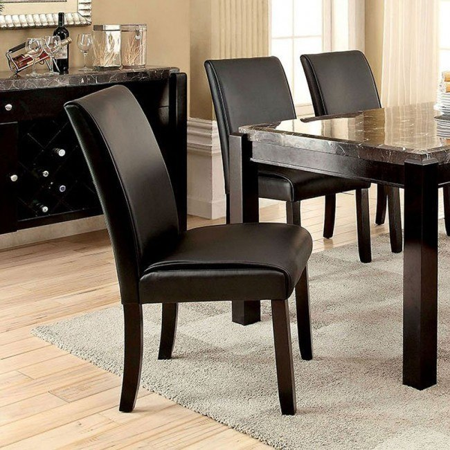 Gladstone I Side Chair Black Set Of 2 Furniture Of America Furniture Cart