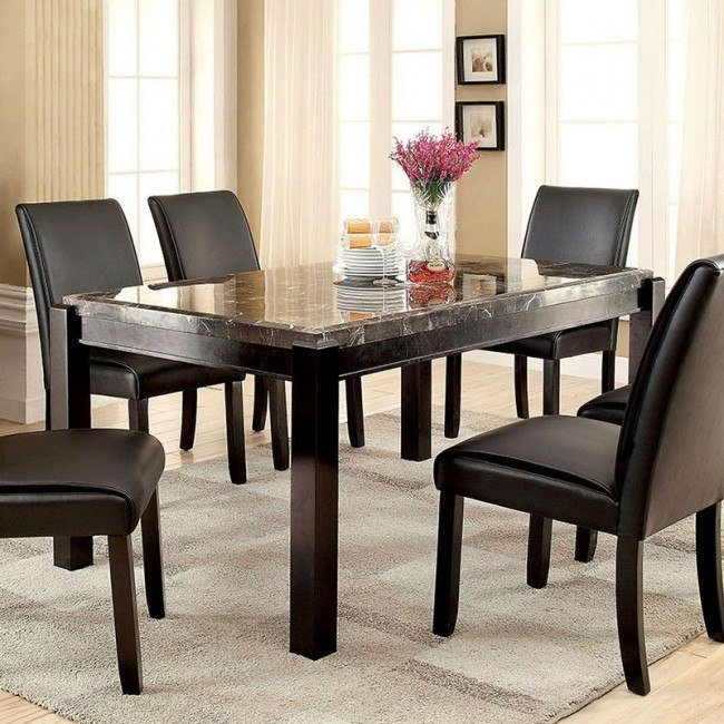 Stupendous Gladstone I Dining Table W Black Marble Top Customarchery Wood Chair Design Ideas Customarcherynet