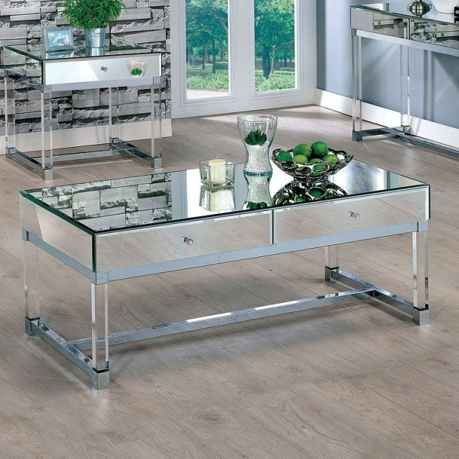 Millie Mirrored Coffee Table