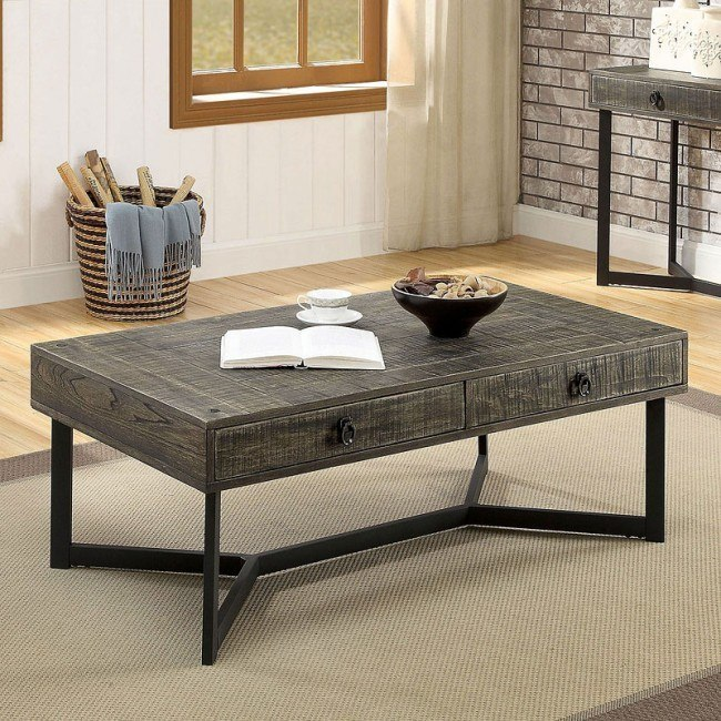Veblen Coffee Table Furniture Of America Furniture Cart