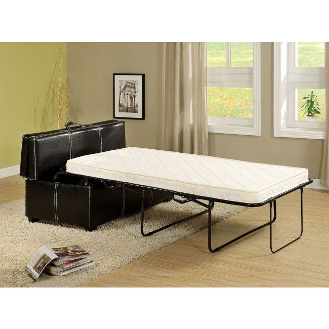 Superb Appoline Ottoman W Pull Out Bed Black Alphanode Cool Chair Designs And Ideas Alphanodeonline
