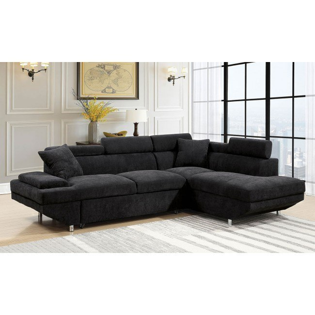 Foreman Right Chaise Sectional W Pull