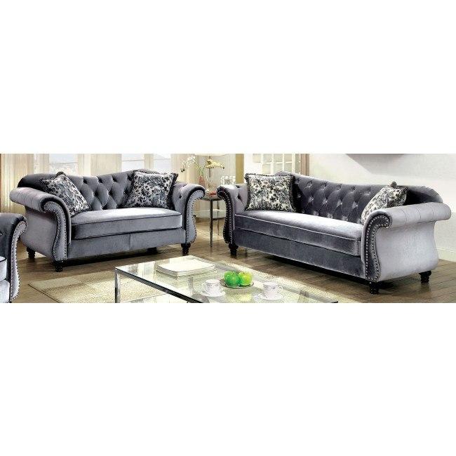 Tremendous Jolanda Living Room Set Gray Creativecarmelina Interior Chair Design Creativecarmelinacom