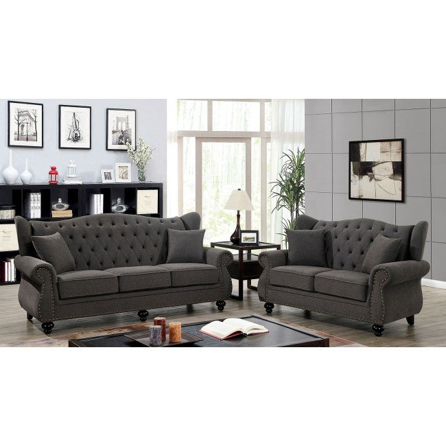 Ewloe Living Room Set Dark Gray