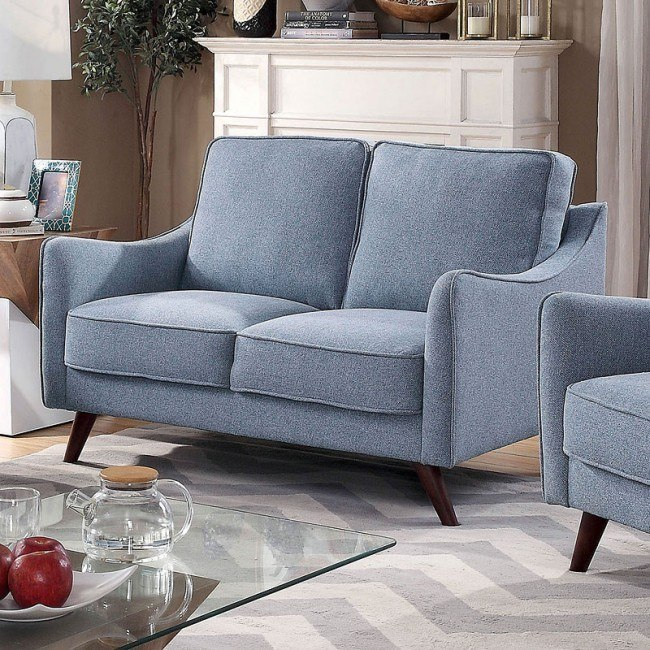 Awe Inspiring Maxime Loveseat Light Blue Pabps2019 Chair Design Images Pabps2019Com