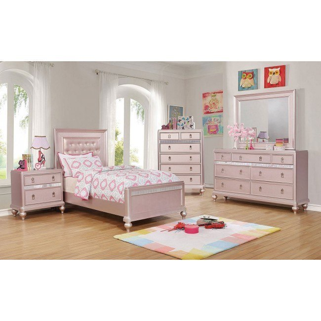 Cool Avior Youth Panel Bedroom Set Rose Gold Caraccident5 Cool Chair Designs And Ideas Caraccident5Info
