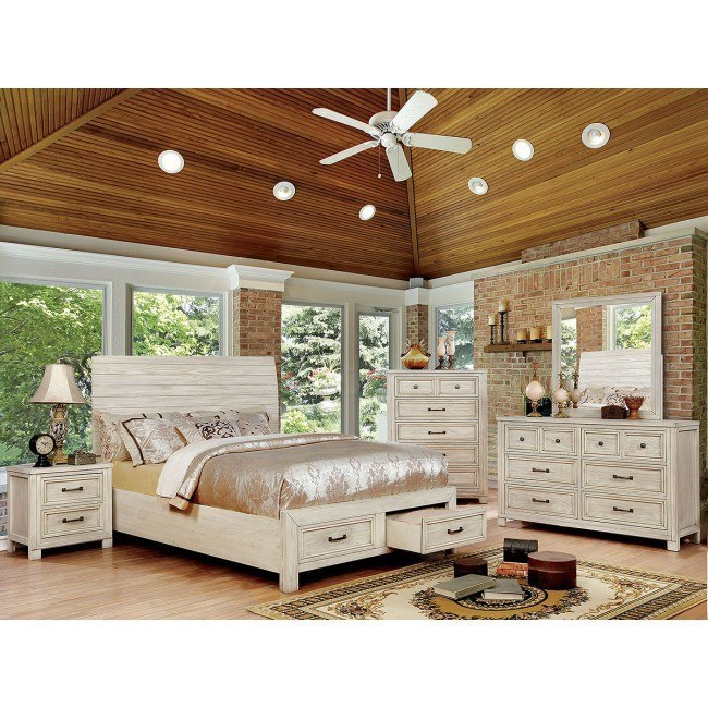 Deann Storage Bedroom Set (Antique White)
