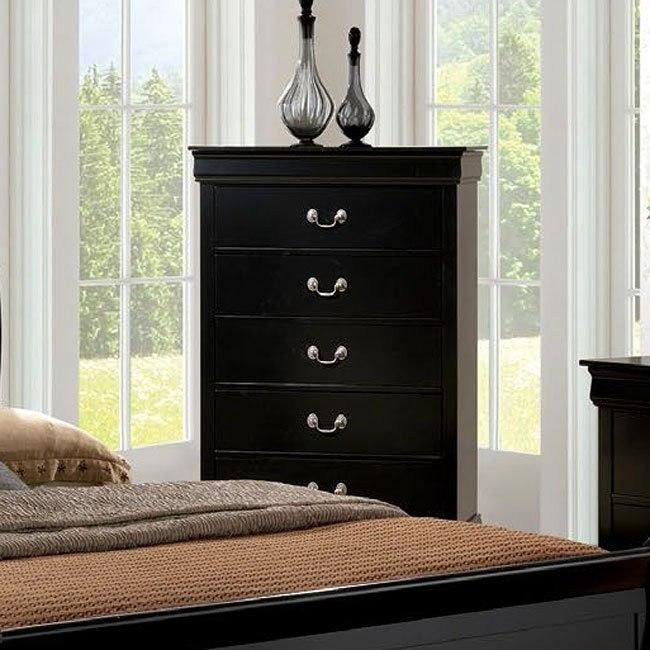 Louis Philippe Iii Chest Black Furniture Of America