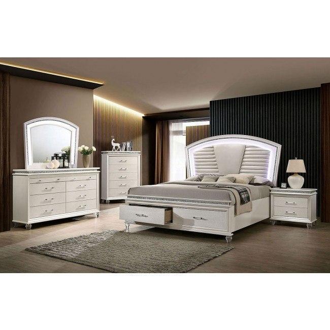 Maddie Storage Bedroom Set Furniture Of America Furniture Cart