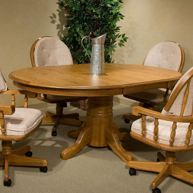 Classic Oak Butterfly Leaf Dining Table (Chestnut)