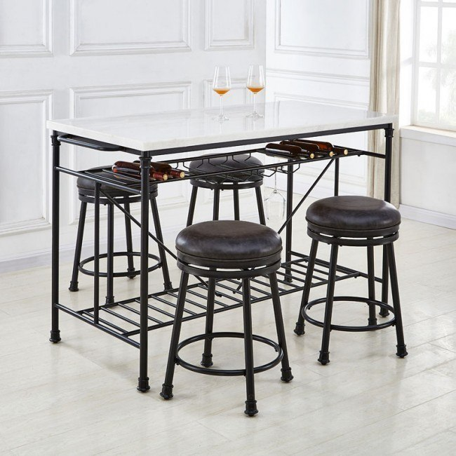 Claire Counter Height Kitchen Island Set