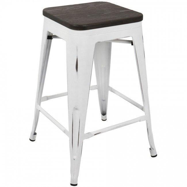 Super Oregon Backless Counter Stool White Espresso Set Of 2 Beatyapartments Chair Design Images Beatyapartmentscom