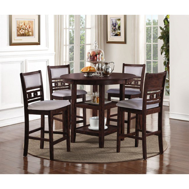 Gia 5-Piece Counter Height Dining Room Set (Cherry)