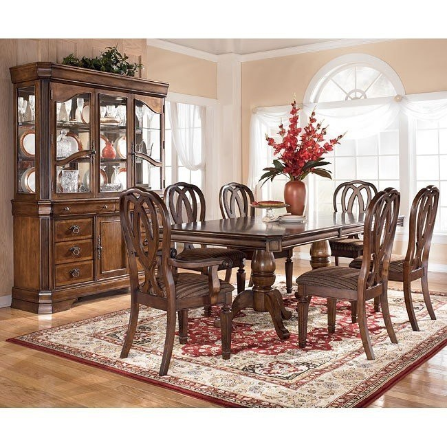 Hamlyn Pedestal Dining Room Set Signature Design By Ashley ...