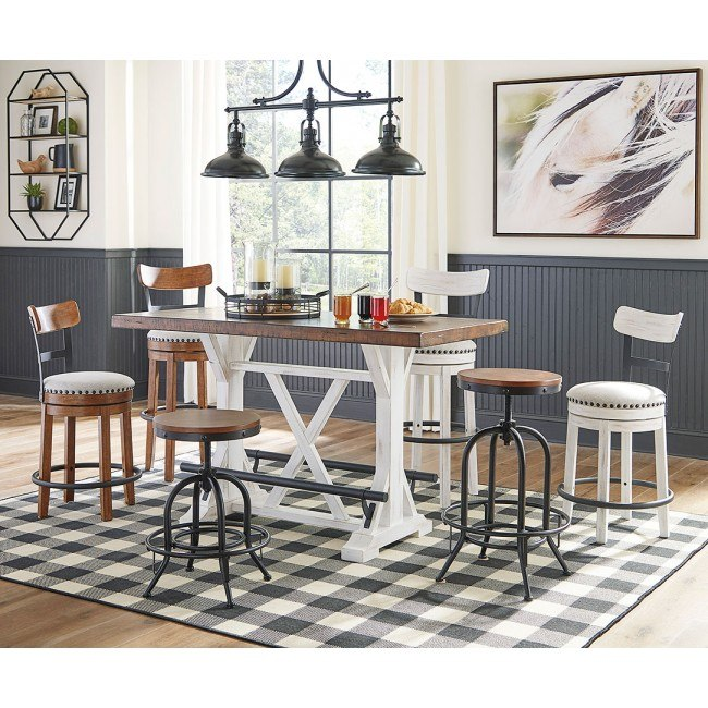 Signature Design by Ashley D546-524 Valebeck Barstool White Counter Height