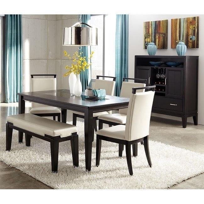Peachy Trishelle Dining Room Set W Bench Inzonedesignstudio Interior Chair Design Inzonedesignstudiocom
