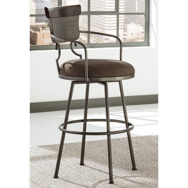 Pleasant Moriann Tall Swivel Metal Barstool Machost Co Dining Chair Design Ideas Machostcouk