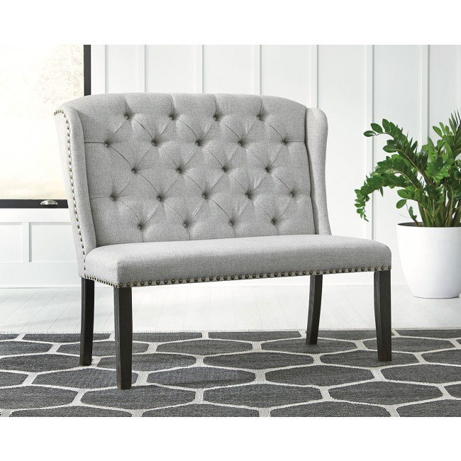 Jeanette Upholstered Bench Signature Design By Ashley | Furniture Cart