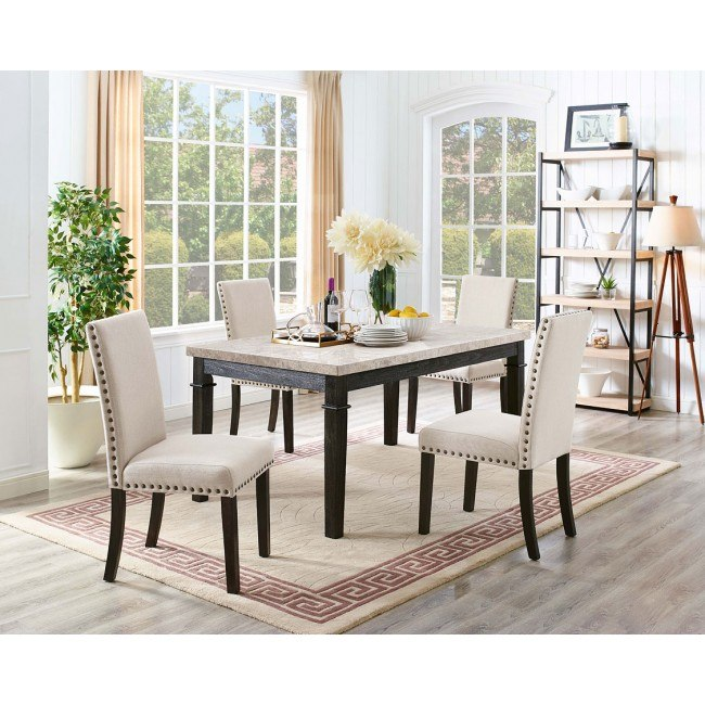 Greystone Dining Room Set w/ Upholstered Chairs