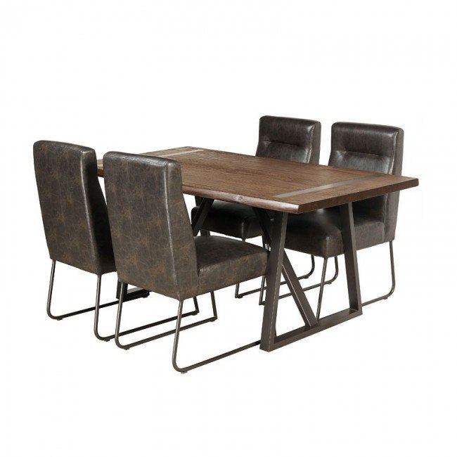 Live Edge Industrial Dining Room Set
