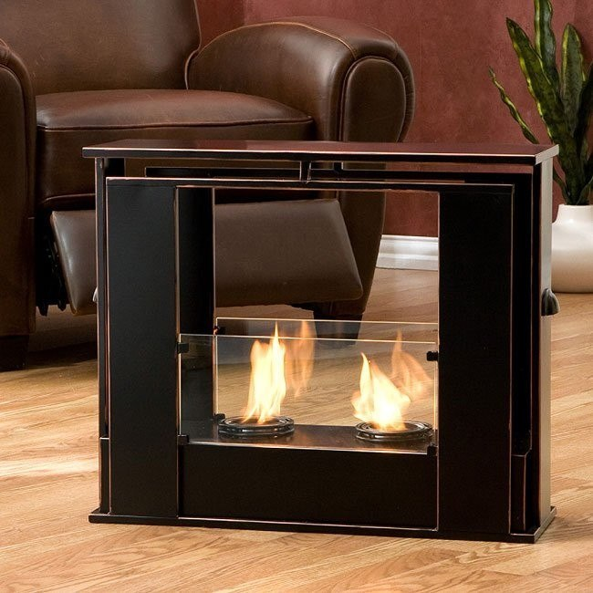 Portable Indoor Outdoor Gel Fuel Fireplace Southern Enterprises