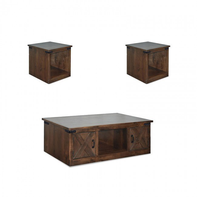 Farmhouse Occasional Table Set Aged Whiskey Legends Furniture 2