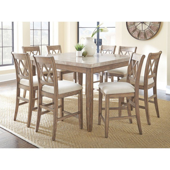 Franco Square Counter Height Dining Room Set Steve Silver Furniture Furniture Cart