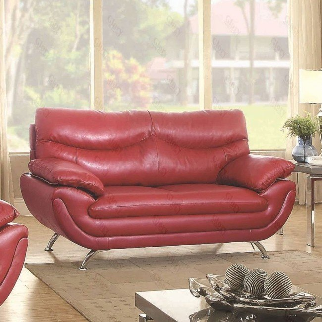 Fabulous G432 Loveseat Red Evergreenethics Interior Chair Design Evergreenethicsorg