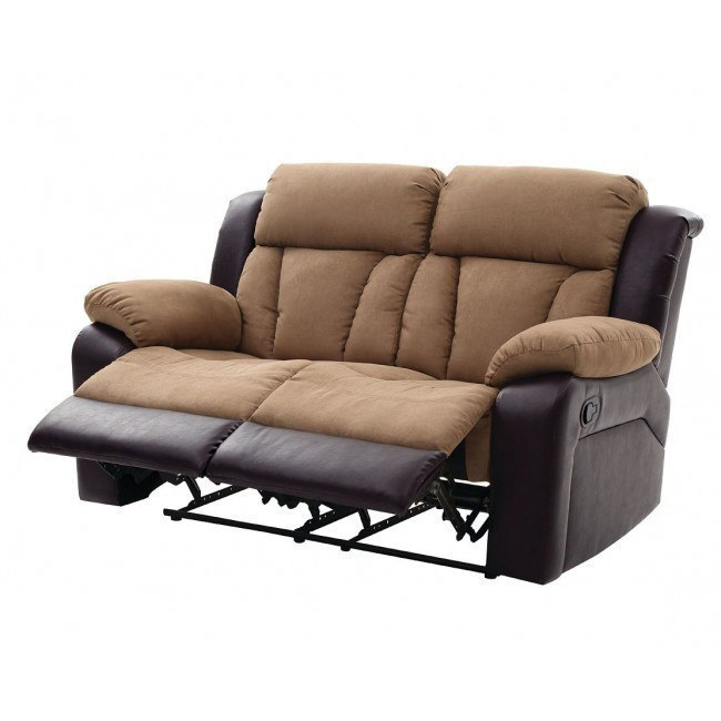 Marvelous G691 Reclining Loveseat Brown And Cocoa Machost Co Dining Chair Design Ideas Machostcouk