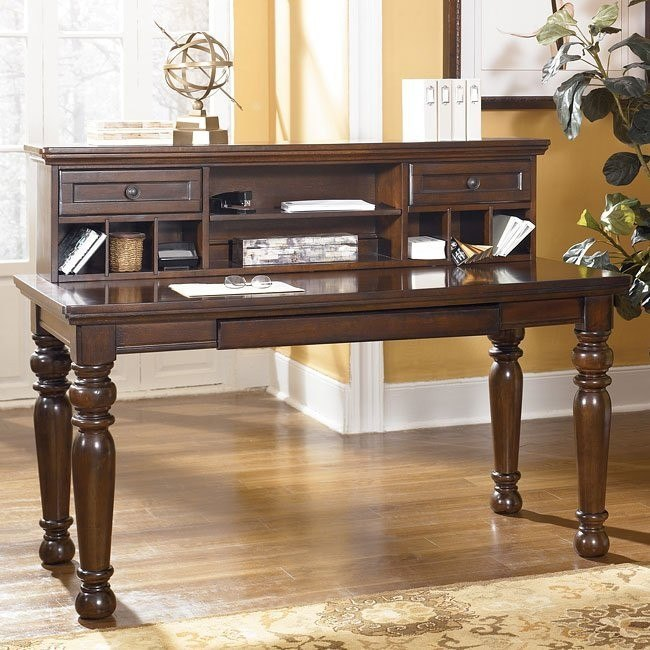 Porter Leg Desk With Low Hutch Signature Design 1 Reviews Furniture Cart
