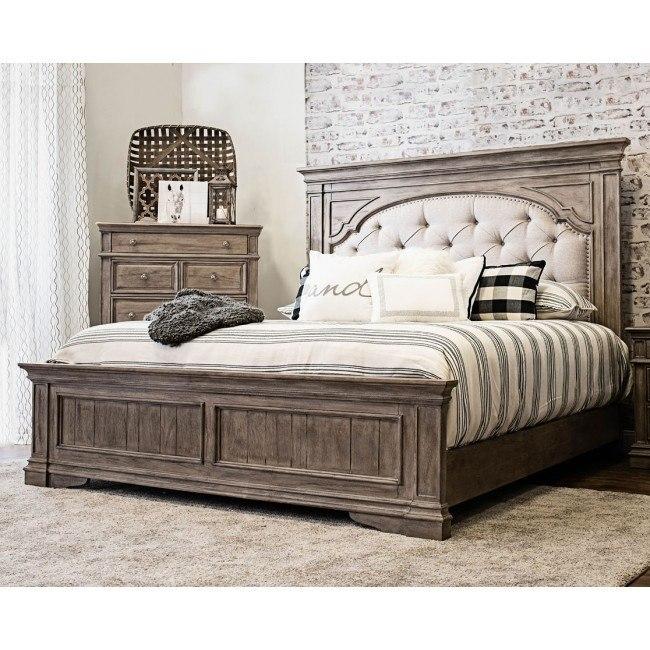 Highland Park Panel Bed Waxed Driftwood Steve Silver Furniture Furniture Cart