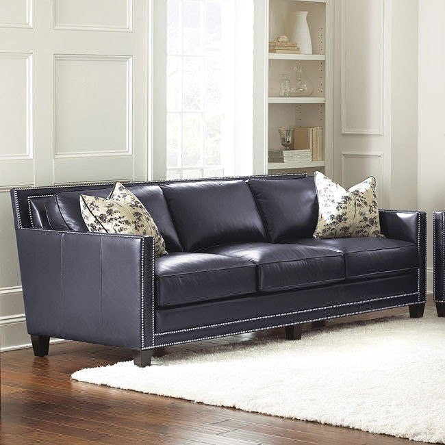 Hendrix Leather Sofa Steve Silver