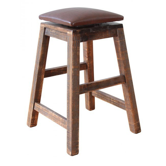 Miraculous Antique Swivel Barstool W Faux Leather Seat Pdpeps Interior Chair Design Pdpepsorg