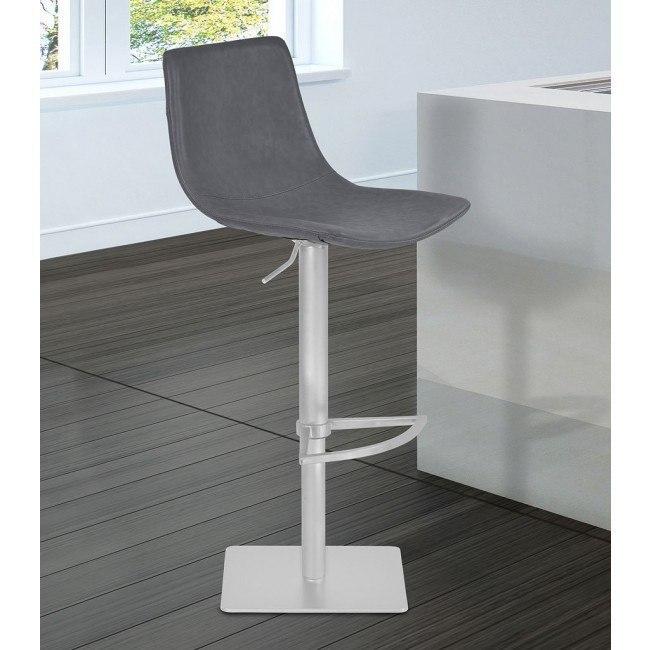 Swell Attica Adjustable Swivel Metal Barstool Vintage Gray Lamtechconsult Wood Chair Design Ideas Lamtechconsultcom