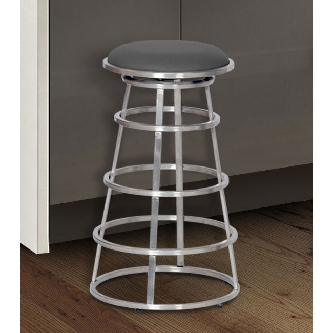 Cool Ringo Counter Height Stainless Steel Barstool Gray Gmtry Best Dining Table And Chair Ideas Images Gmtryco