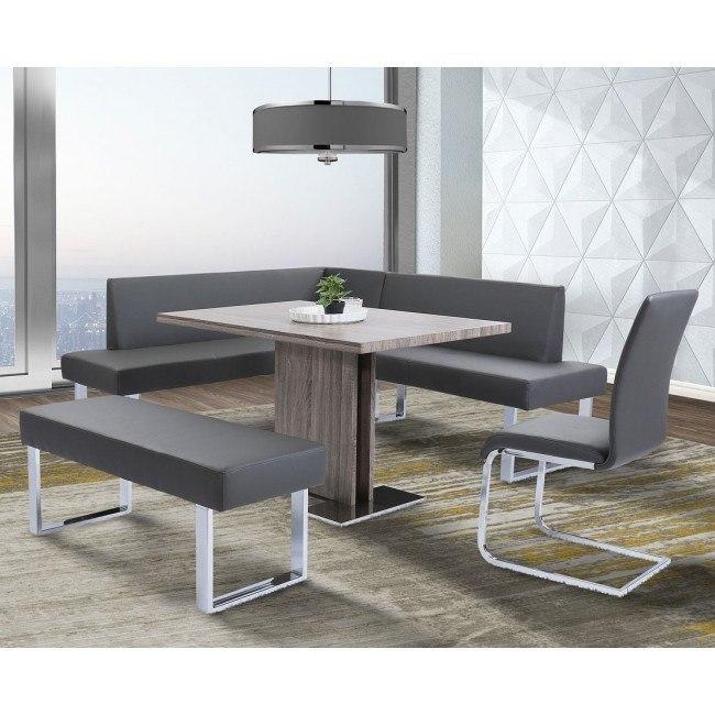 Zenith Dining Nook Set W Amanda Chairs