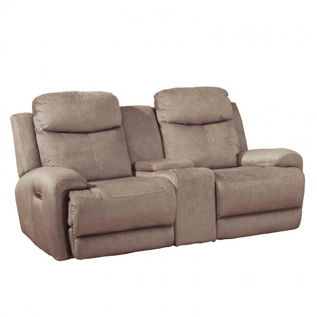 Astounding Bowie Power Reclining Console Loveseat W Power Headrests Caraccident5 Cool Chair Designs And Ideas Caraccident5Info
