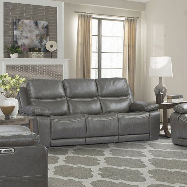 Remarkable Palmer Power Reclining Sofa W Power Headrests And Lumbar Ibusinesslaw Wood Chair Design Ideas Ibusinesslaworg
