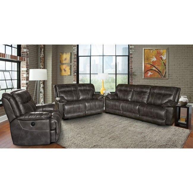 Phoenix Power Reclining Living Room Set (Flint)