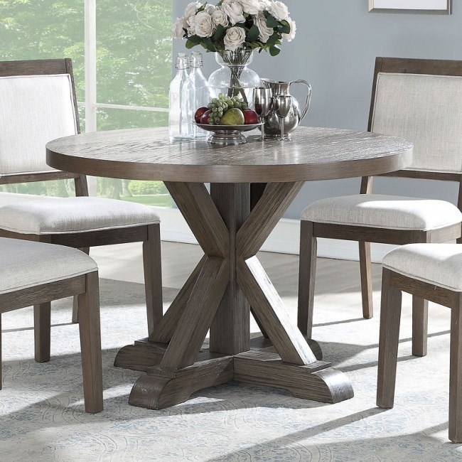 Molly 48 Inch Round Dining Table Steve Silver Furniture ...